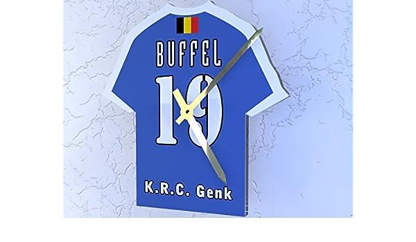 Belga Jupiler Pro League - fútbol KIT reloj - personalizable - diseño de marca nuevo acrílico de camisas., plástico, K.R.C. Genk: Amazon.es: Deportes y aire ...