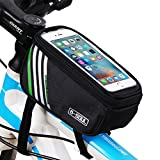 Touchscreen Bike Frame Bags / Bicycle Handlebars Panniers Phone Bag - Waterproof Cycling Tube Pack (4.8-5.7'')