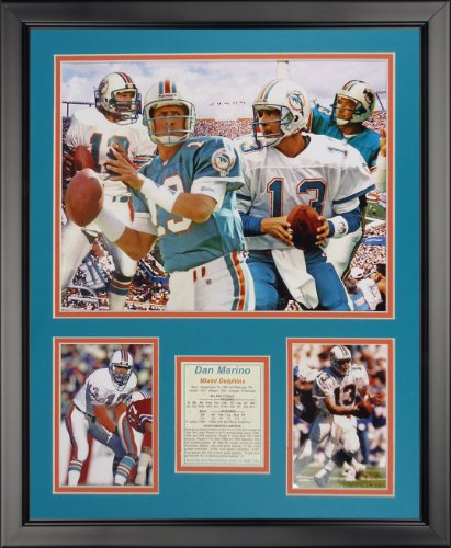 - Legends Never Die Dan Marino - Collage - Framed Photo Collage, 16