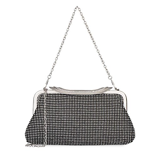 Purse Dazzling Nero Evening Handbag Rhinestone Bags Wedding Crystal Women's OdXqSS