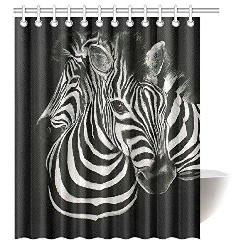 Cute Zebra Print Shower Curtain