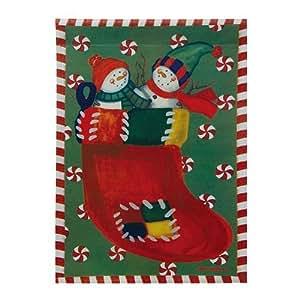 Stocking Snowmen Christmas Garden Flag