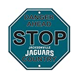 NFL Jacksonville Jaguars Stop Sign, 12″ x 12