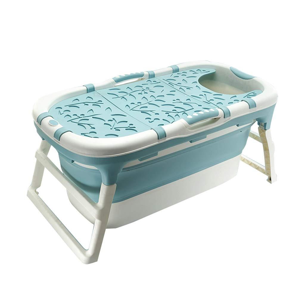 GYF 折りたたみ式成人用浴槽,バスタブ折りたたみ大人のバスタブポータブル子供用プールベビーバスタブ旅行キャリングバスタブブルーピンク113×59×53センチ (色 : ピンク)  ピンク B07S2K82JD