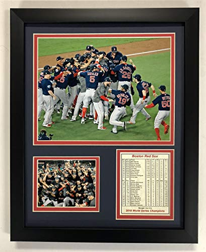 Legends Never Die MLB Boston Red Sox 2018 World Series Champions Framed Photo Collage, Celebration, 12 x 15-Inch ()