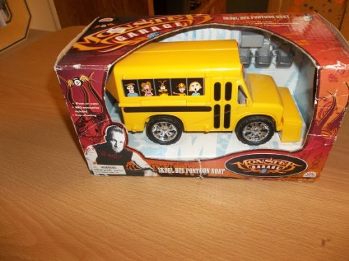 1/24 Mm Monster Garage Skool Bus Pontoon Boat - Yellow (Skool Bus)