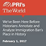 We've Been Here Before: Historians Annotate and Analyze Immigration Ban's Place in History | Angilee Shah