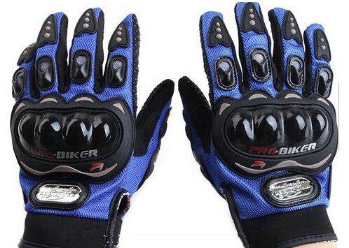 Motorcycle Motocross Racing ATV UTV Outdoor Sport Riding Cycling Armor Full Finger Pro-Biker Protective Gloves Blue Size L For ARCTIC CAT 700 Prowler EFI 2008 2009