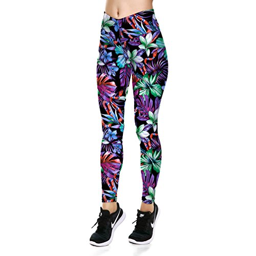 - Lesubuy V Wide Waistband Full Length High Waisted Compression Gym Athletic Exercise Leggings Workout For Women,X-Large,Vintage