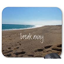 Mouse Pad Beach with Break Away Quote Mousepad Computer Accessories Gaming Mouse Mat
