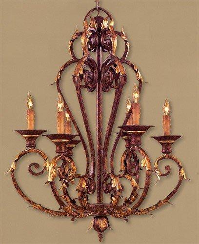 - Metropolitan N6235-355, Zaragoza Candle 1 Tier Chandelier Lighting, 6 Light, 360 Total Watts, Bronze