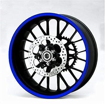 Alchemy Parts & Accessories Pegatina AZUL reflectante resistente 600cm para ruedas, depósito, carrocería de