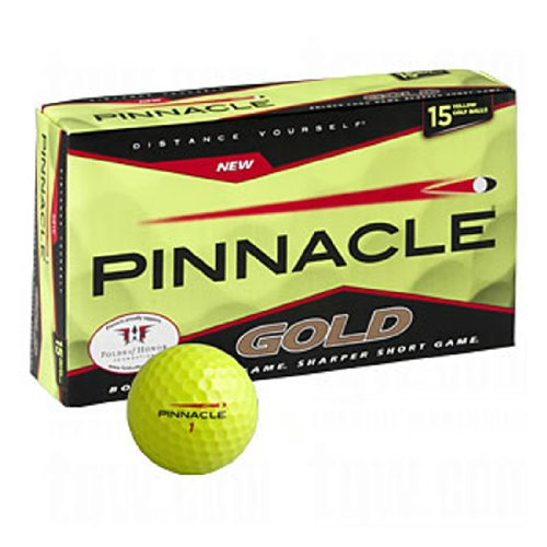 Pinnacle Gold Golf Ball New - Yellow 15 Pack