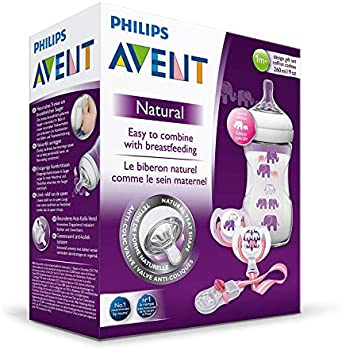 Philips Avent Natural Feeding Bottle Purple Set, 8710103791027
