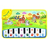 Musical Singing Carpet, Children Durable Piano Mat, Educational Music Keyboard, Colorful Animal Sound Baby Play Keyboard for Kids for Fun