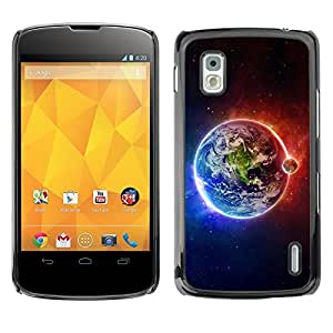 YiPhone /// Prima de resorte delgada de la cubierta del caso de Shell Armor - Space Planet Galaxy Stars 63 - LG Google Nexus 4 E960