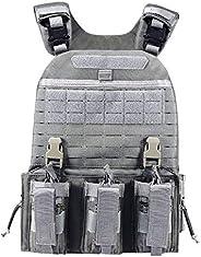 YAKEDA Quick Release Military Tactical Outdoor Vest for Men