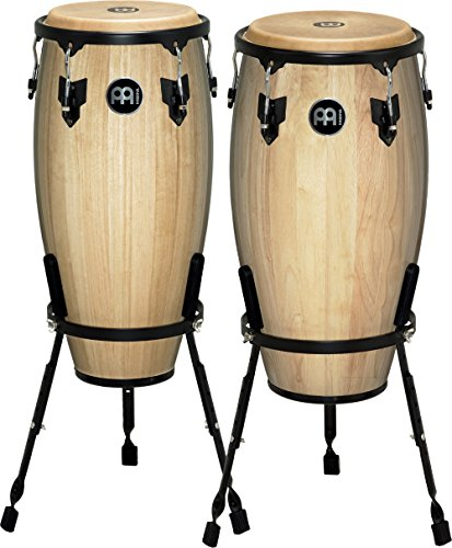 Meinl Headliner Series 11 And 12 Inch Wood Conga Set With Basket Stands Maple
