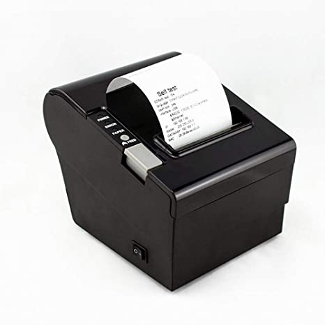 MKLKYY 80 mm Impresora Térmica Directa 250 mm/Sec con USB Ethernet ...