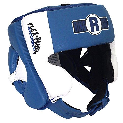 Ringside Elite Amateur Flex Panel Competition Headgear, Blue/White, Small/Medium