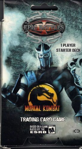 Mortal Kombat Round 1 Epic Battles 1 Player Starter Deck (Sub Zero on Box) 51 Cards