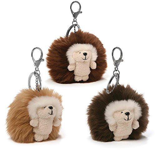 Gund, Ganley Natural Poofs Plush Hedgehog Keychain