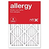 AIRx ALLERGY 14x20x1 MERV 11 Pleated Air Filter - Made in the USA - Box of 6
