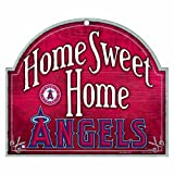 "MLB Anaheim Angels 10-by-11 Wood ""Home Sweet Home"" Sign"