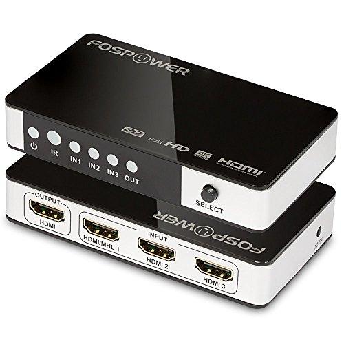 3 x 1 HDMI Switch , FosPower 3 Ports HDMI Switcher - Support