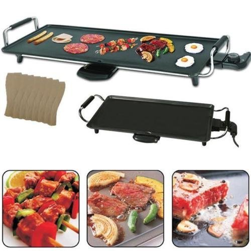 , COSTWAY Electric Teppanyaki Table Top Grill Griddle BBQ Barbecue Nonstick Camping