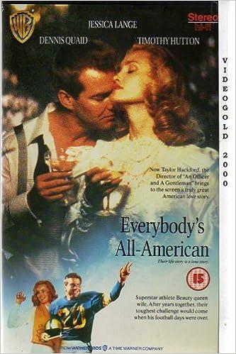Everybodys All American VHS 1988 Amazoncouk Dennis Quaid Jessica Lange Timothy Hutton John Goodman Carl Lumbly Taylor Hackford 5014781182720