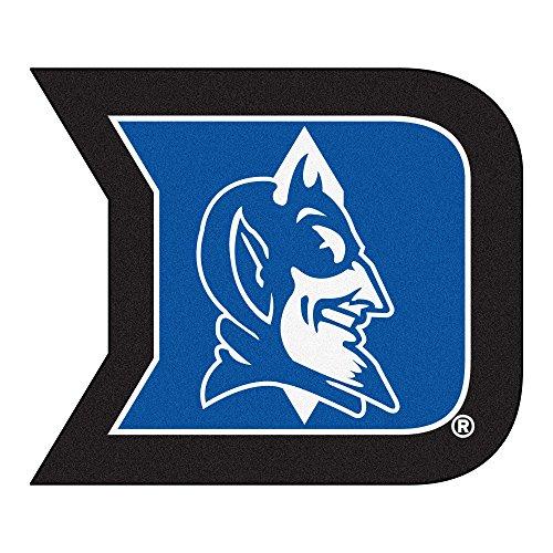 FANMATS NCAA Duke University Blue Devils Nylon Face Mascot Rug