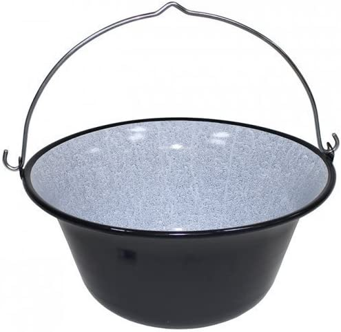 stew pot kettle Hot Black Enamel 14 Litres Ungar
