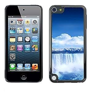 LASTONE PHONE CASE / Carcasa Funda Prima Delgada SLIM Casa Carcasa Funda Case Bandera Cover Armor Shell para Apple iPod Touch 5 / Waterfall Blue Africa