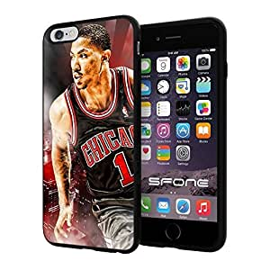 "Derrick Rose MVP #105 Basketball iphone 6 4.7 I+ ("") Case Protection Scratch Proof Soft Case Cover Protector"