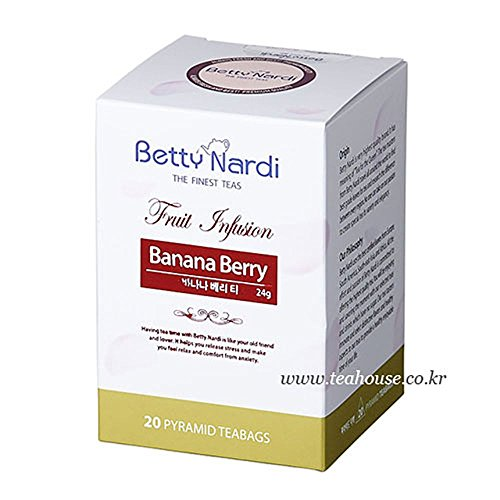 (Betty Nardi Herbal Tea - Banana Berry 2g x 20 Pyramids Bags)