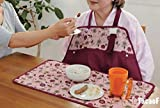 LUCKYYAN 2 Piece Set Male and Female Elderly Care Dining Waterproof Bib - Waterproof Apron + Meal Mat - Adjustable Length at the Collar