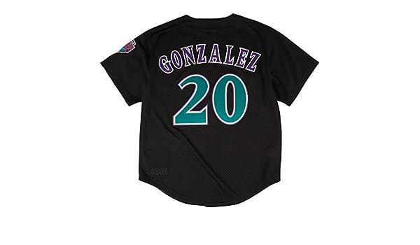 a96ab4e691d Amazon.com   Mitchell   Ness Luis Gonzalez Black Arizona Diamondbacks  Authentic Mesh Batting Practice Jersey 4XL (60)   Sports   Outdoors