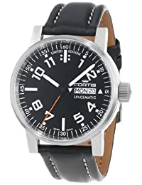 """Fortis Watch Men's 623.10.41 L.01 """"Spacematic"""" Stainless Steel Automatic Watch with Leather Band"""