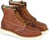"Thorogood 804-4200 Men's American Heritage 6"" Moc Toe, MAXwear Wedge Safety Toe Boot, Tobacco Oil-Tanned - 9 D(M) US"