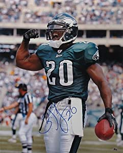 Athlon CTBL-018877 Brian Dawkins Signed Philadelphia Eagles Photo No.20 - Vertical-Green Jersey-Flex - 16 x 20