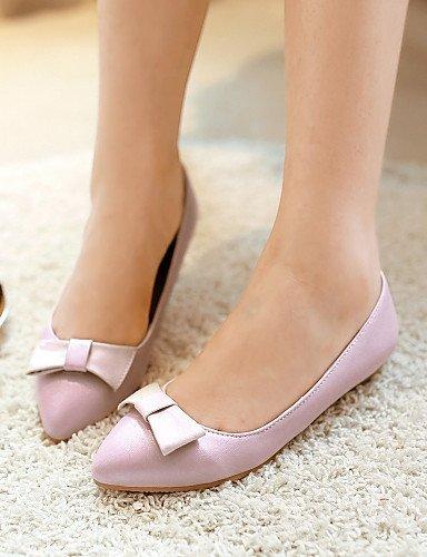 Rosa Ballerine Donna ShangYi Casual Finta punta Beige Scarpe A pelle Bianco Pink Piatto BEB5wzqx