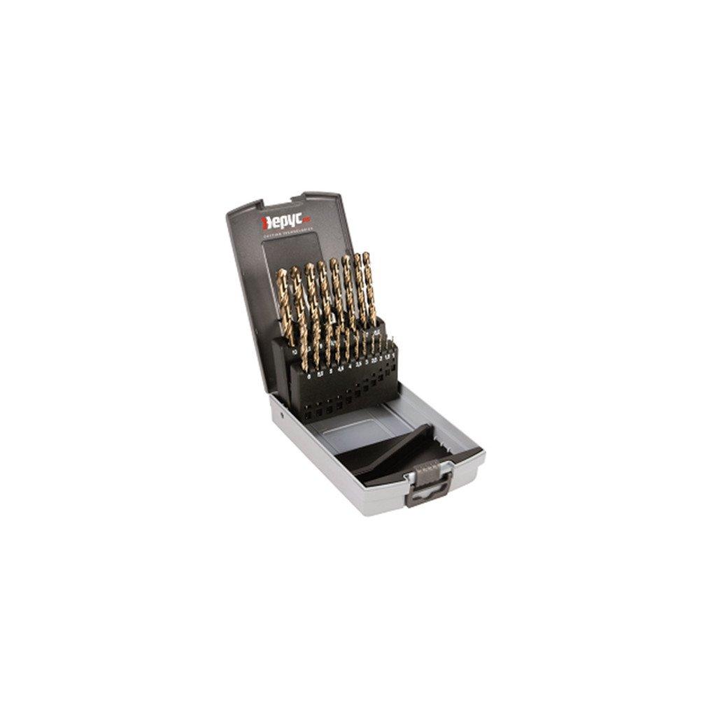 HSSCO /Ø1 a 10 X 0,5mm. /Ø1-10x0.5mm Hepyc 11710000003 Estuche para taladrado 19pcs