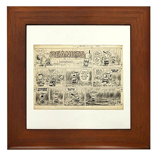 CafePress - 1950'S Baseball - Framed Tile, Decorative Tile Wall Hanging