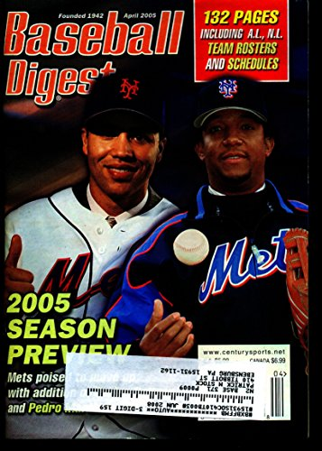 BASEBALL DIGEST APRIL 2005 CARLOS BELTRAN & PEDRO MARTINEZ METS EX