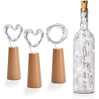 Redlemon Luces LED Decorativas para Botella tipo Corcho (3 Piezas), para Interiores y Exteriores. Ideal para…