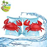 Inflatable Arm Ring for Kids, Floatation Sleeves Swim Ring Floats Assisted Baby Swimming for Children (Crab Water Wings)