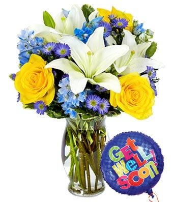 Get Well Bouquet - Same Day Get Well Soon Flowers Delivery - Get Well Soon Flowers - Get Well Bouquet - Sympathy Flowers - Get Well Soon Presents by eshopclub