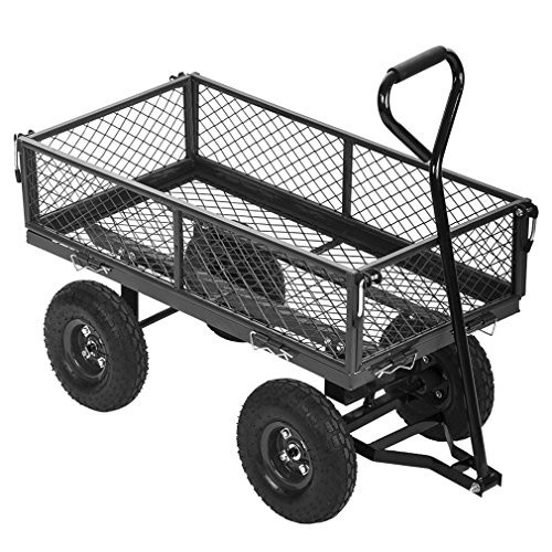 PayLessHere Garden Carts Wagons Heavy Duty Utility Outdoor Steel Beach Lawn Yard Buggy by PayLessHere