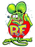 "Rat Fink Small Decal 3"" Free Shipping From the United States"